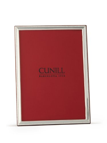 Cunill Silver Slim Beaded Frame for 5 by 7-Inch Photograph, Sterling Silver