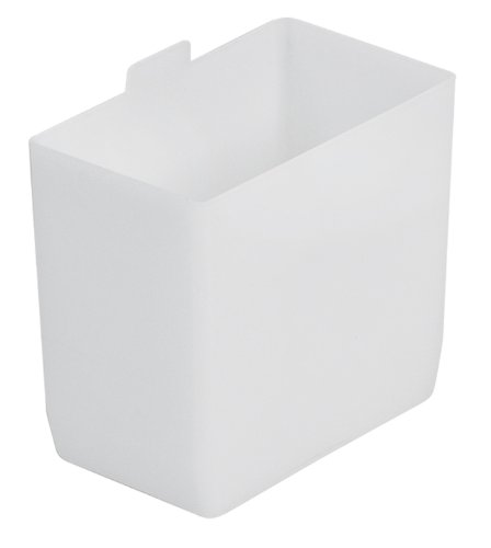 Akro-Mils 30101 2-Inch by 3-1/4-Inch by 3-Inch Small Bin Cup for Shelf Bins, White, 48-Case - Small Parts Bin