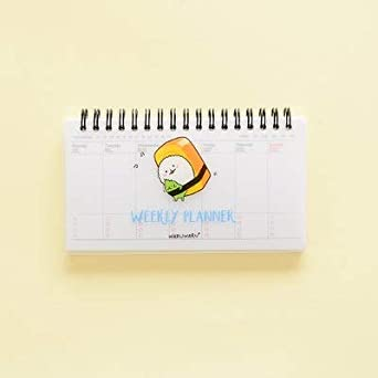Amazon.com: Cute Kawaii Cartoon Weekly Planner Coil Notebook ...