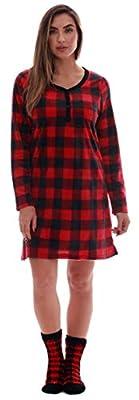 Just Love Women's Ultra-Soft Sleep Shirt Nightgown with Matching Fuzzy Socks