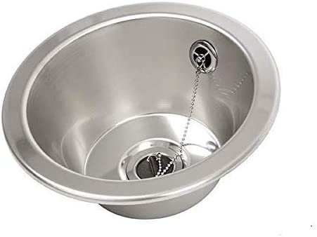 FMK FIN230R Hand basin Round inset bowl 280mm diameter Stainless Steel Sink