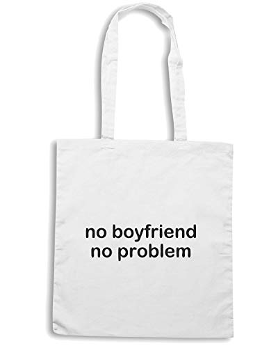 Shirt Shopper BOYFRIEND NO PROBLEM Bianca NO TDM00187 Borsa Speed p6vwxHH