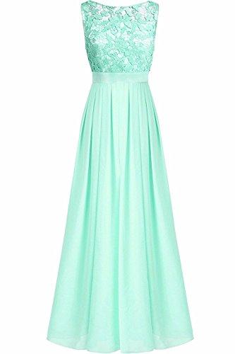 6775d2e65c1ebe Chiffon Elegante Brautjungfernkleid Abendkleid Festliche Türkis Damen  Spitzen 36-46 Yizyif Kleider Hochzeit Partykleider Kleid ...