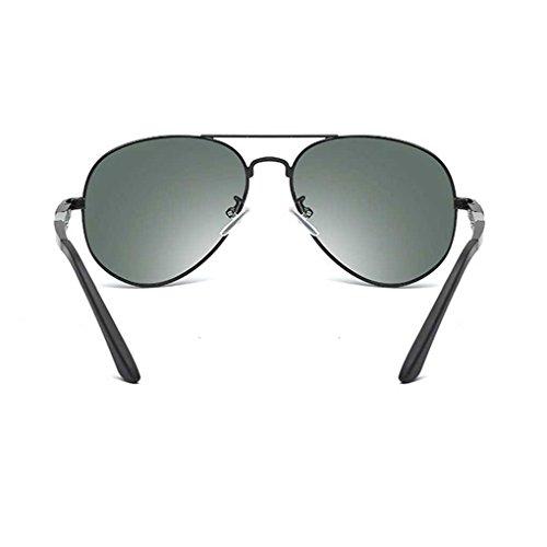 Marco Providethebest los luz polarizada la de Hombres Gafas Boy de de de Gafas de Sol Eyewear Coolsir piloto Color Sol Metal Manera 3 de Doble drF0ArqT