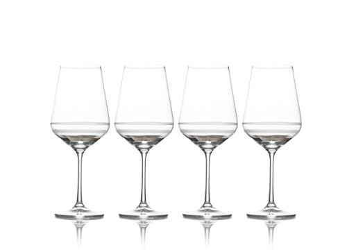 Mikasa Lux Platinum Water Goblet, 20-Ounce, Set of 4 Platinum Water Goblet