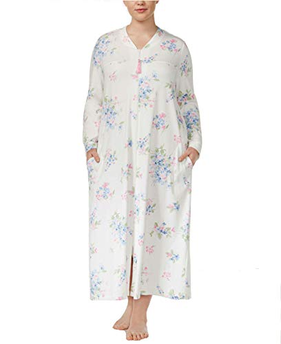 - Charter Club 100% Cotton Zip Up Robe, Fall Floral Small