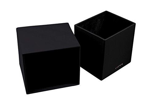Lucrin Lisse carrée Noir Blanc pour mouchoirs Boite Cuir Zr4gqZw