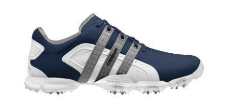Adidas Powerband 4.0 Golf Shoes (ADM0034) Navy - White - Metallic Silver Medium 9.5 671616