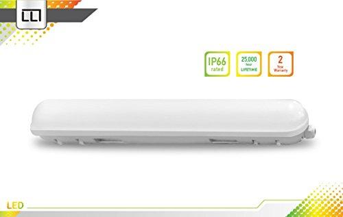 LLT LED Garage Vapor Proof Fixture 2ft 18W 4000K IP66 - Bright White