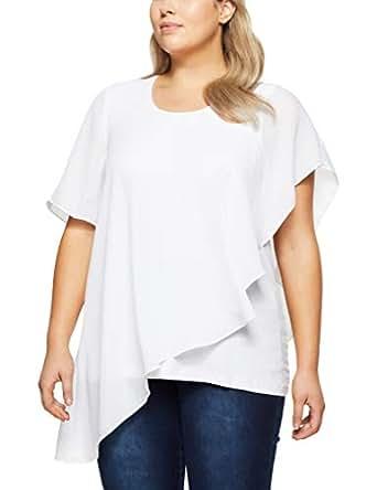 My Size Women's Plus Size Aloha Buttifly Top, White, Small