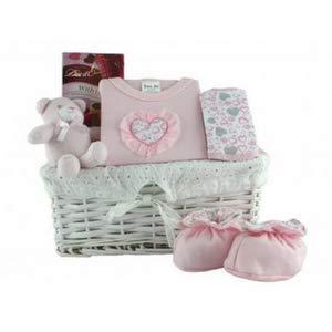 Cesta de regalo para bebé, color rosa Cesta de regalo para bebé ...