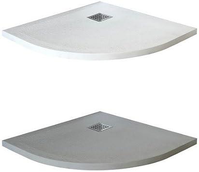 Plato ducha semicircular de mármol, gris o blanco 80 x 80 cm ...