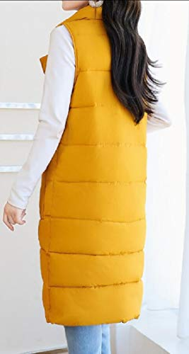 Coat Casual Yellow Vest Jacket Down Women's Long Thickened TTYLLMAO qEn8Ux4A