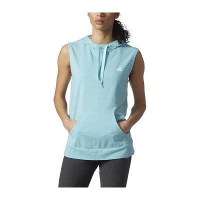 Adidas Women's All Season Sleeveless Pullover Hoodie. Clear Aqua, XL