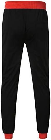 男性カジュアルルーズレタープリントドローストリング弾性ウエストロングパンツズボン