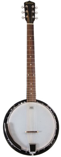 - 6 String Banjo Guitar with Closed Back Resonator and 24 Brackets