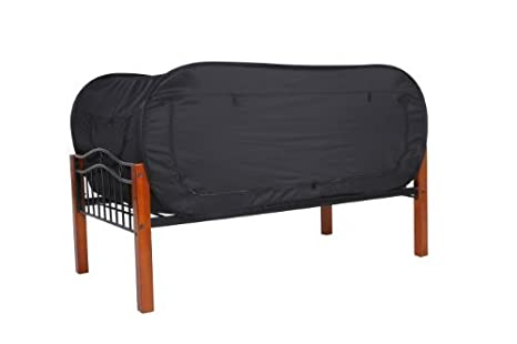 Amazon Com Privacy Pop Bed Tent Twin Bunk Black Toys Games