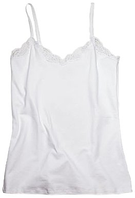 Only Hearts Women's Delicious Cami With Adjustable Lace Straps - 4917L,White,Large