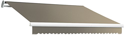 Awntech 8-Feet Maui-LX Right Motor with Remote Retractable Acrylic Awning, 84-Inch Projection, Taupe