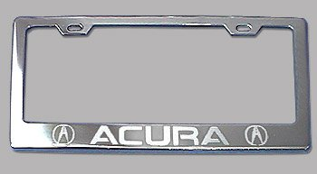 acura-chrome-license-plate-frame