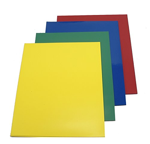 Colored Vinyl Magnet Sheets for Scrapbooking, Art, Decorations (8 sheets) by Kling Magnetics