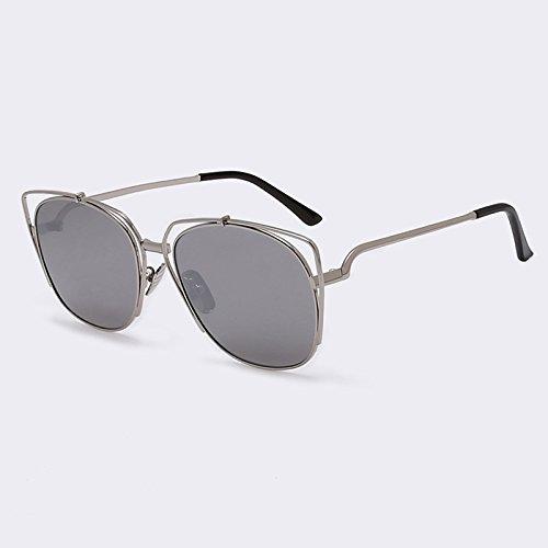 de gato Ojos C05 para de de Gafas UV400 de Mujeres Ojo sol de gafas de el de Silver espejo estilo lujo C06 Gato gafas Verano rosa Metal TIANLIANG04 revestimiento de OZqwFPx