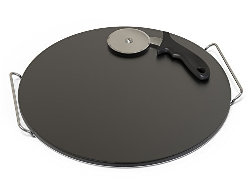 Durable Cordierite Pizza Stone - GRILL pan stone for Cooking, Baking, Grilling - 15