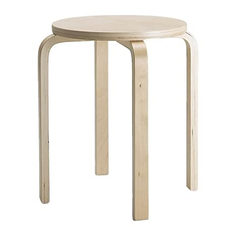 Amazon.com: IKEA single unit Stool, birch plywood 6106.26208 ...