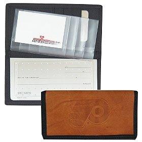 Philadelphia Flyers Leather/Nylon Embossed Checkbook Cover