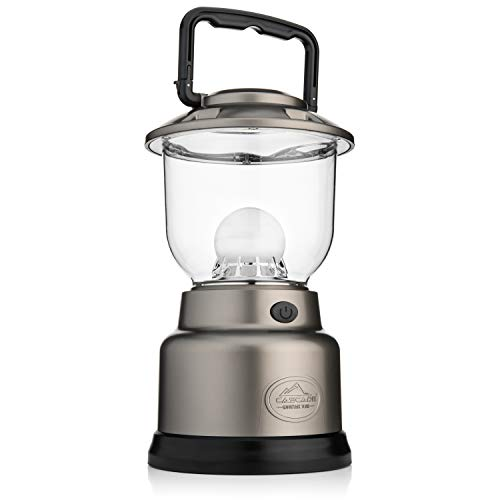 Cascade Mountain Tech LED Lantern – 1000 Lumens, Dimmable, Battery Operated, with USB Charging Port, Ideal for Outdoors, Camping, and Emergencies