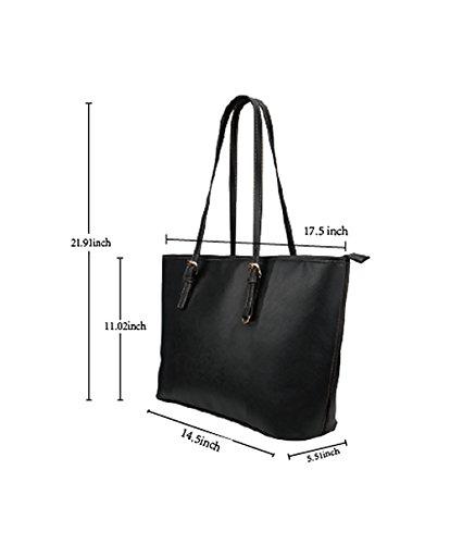 InterestPrint Fashion I Love Paris Eiffel Tower France Women's Leather Handbags Ladies Shoulder Bag Tote Bags by InterestPrint (Image #4)