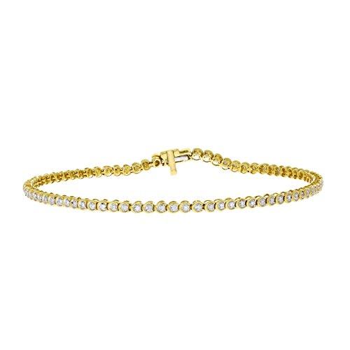 1/4 CTW Brilliant Cut I-J/I2-I3 Diamond Ladies Tennis Bracelet 10k Solid Gold (yellow-gold) by eSparkle