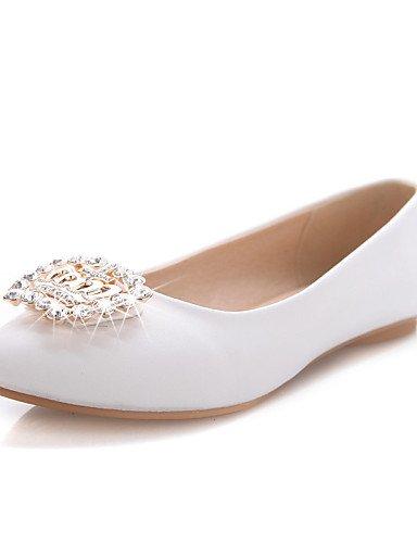 ZQ YYZ Zapatos de mujer - Tac¨®n Plano - Puntiagudos - Planos - Oficina y Trabajo / Vestido / Casual - Semicuero - Azul / Rosa / Blanco , pink-us8 / eu39 / uk6 / cn39 , pink-us8 / eu39 / uk6 / cn39 white-us6 / eu36 / uk4 / cn36