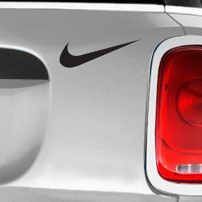 Nike Swoosh Logo Black SK8/Surf/Snow/Water/Bike/Brands Automotive Decal/Bumper Sticker