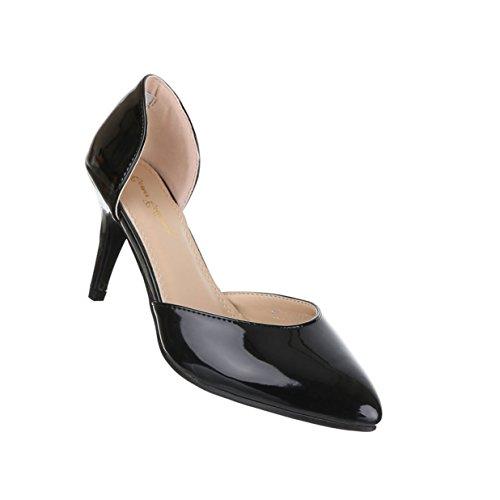 Damen Schuhe Pumps High Heels Schwarz