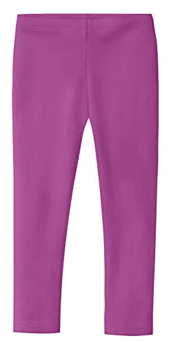 City Threads Girls' Leggings 100% Cotton for School Uniform Sports Coverage Play Perfect for Sensitive Skin SPD Sensory Friendly Clothing,Plum, 5 by City Threads