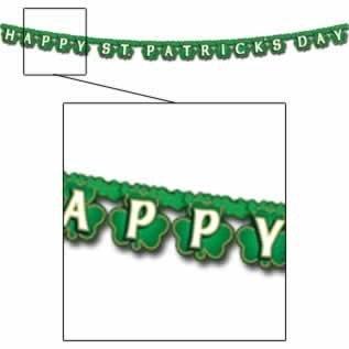 Happy St. Patrick's Day Shamrock Streamer Party Accessory (Patricks Day Streamer)
