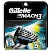 Gillette Mach3 Base Cartridges, 5 Count