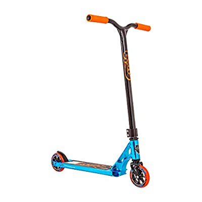 Grit Fluxx Pro Scooter - Neo Blue/Black - Stunt Scooter - Trick Scooter - Intermediate Pro Scooter - Ages 6+ and Heights 4.0ft-5.5ft: Sports & Outdoors