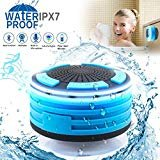 Bluetooth Shower Speaker Waterpoof Shower Radios, Wireless Bathroom Speaker with FM Radios, LED Mood Light, Suction Cup, Portable Speaker for Shower Kids Home Outdoor Beach Pool Hot Tub by DGnight