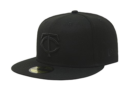 b09f6c9f7af New Era 59Fifty Hat Minnesota Twins Black On Black Fitted Cap 11591135 (7 5