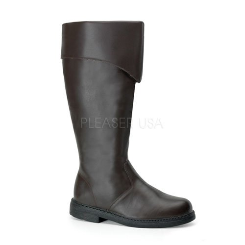 Funtasma Men's Captain-105/BN Dress Boot,Brown Polyurethane,Small / 8-9 D(M) US ()