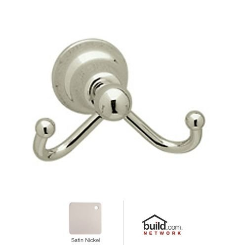 Rohl CIS7D Cisal Double Hook Robe Hook, Satin Nickel by Rohl