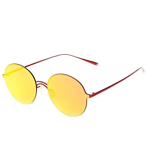 pequeño de marco polarizada Rojo para marco gafas Shop una de Roja luz gran Película Gafas Gafas sol de sol 6 Marco comodidad sin sol polarizadas de T77qwg6na