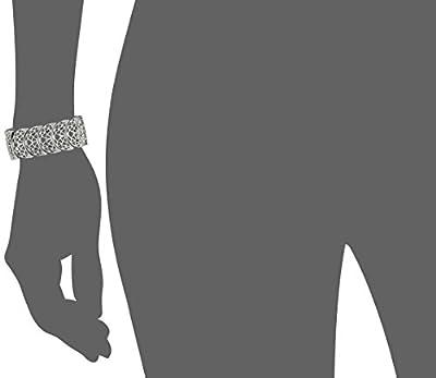"1928 Jewelry Vintage Lace Half-Circle Filigree Stretch Bracelet, 9"""