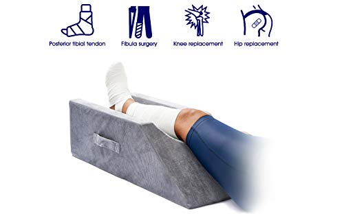 Light Ease Memory Foam Leg, Knee, Ankle Support and Elevation Leg Pillow for Surgery ()