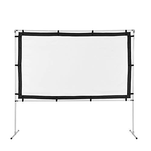 92 inch Diagonal 16:9 Projection with Remote Control HD Home Theater Matte White AOOLIVE Motorized Projector Screen