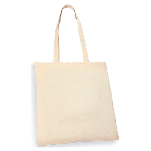 eBuyGB Pack of 10 Natural Cotton Shopping Tote Bags - Shoppe