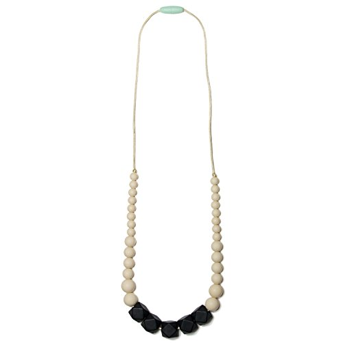 Mama & Little Silicone Teething Nursing Necklace for Mom Sol, Black