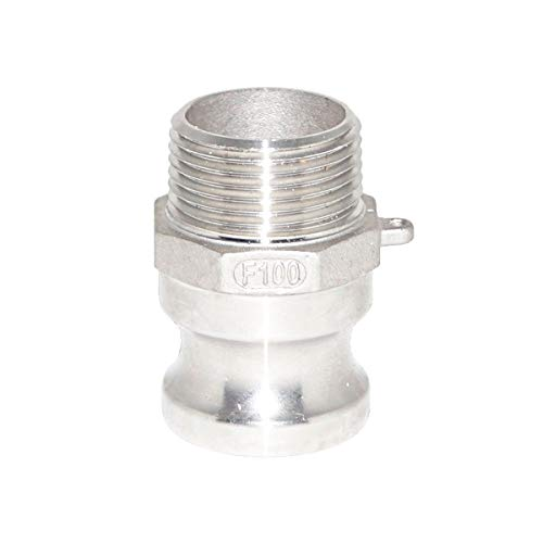 """1-1//2/"""" Inch Type F 316 Stainless Steel Male Camlock Adapter x Male Pipe NPT"""